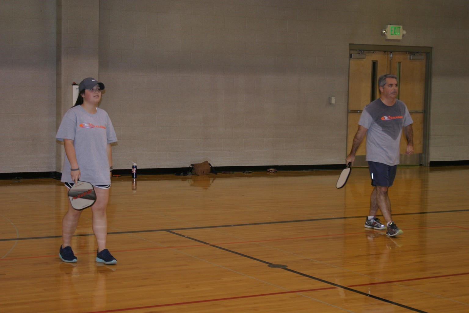 father and daughter playing pickleball in trussville alabama, alabama pickleball, trussville pickleball, birmingham pickleball
